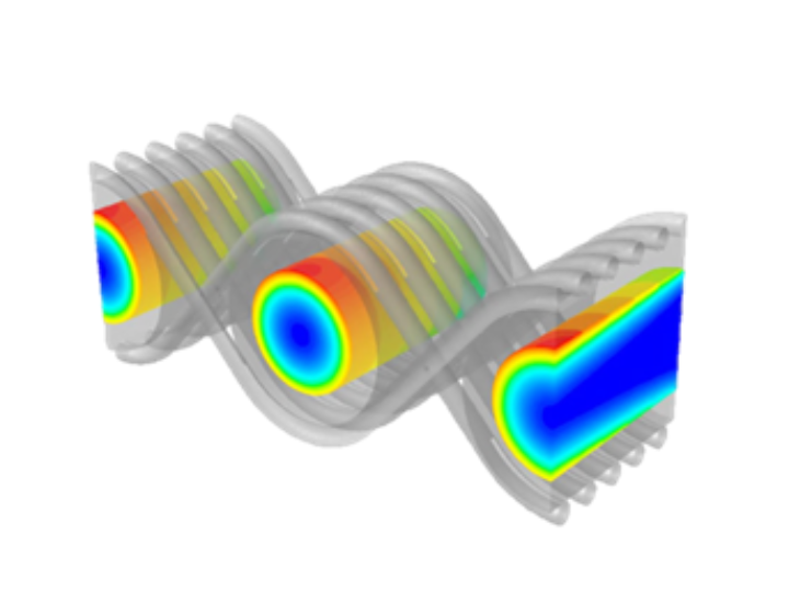Heat transfer simulation on a wire mesh
